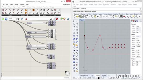 Checking out curve basics: Up and Running with Grasshopper