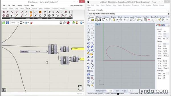 Analyzing curve data: Up and Running with Grasshopper
