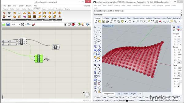 Working with surface spheres: Up and Running with Grasshopper