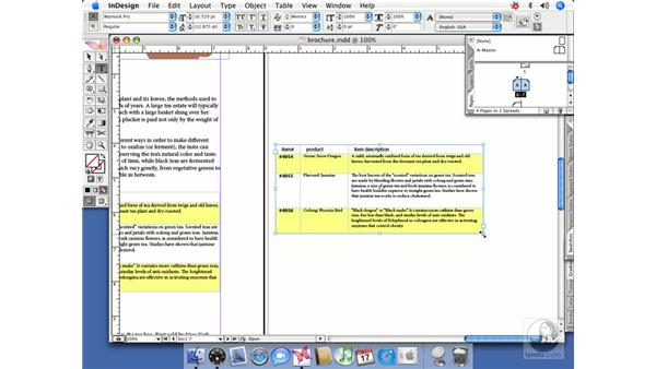 Table shortcuts: InDesign CS2 Beyond the Basics