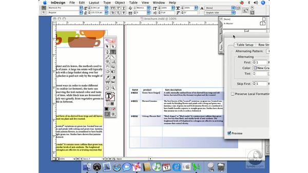Table formatting: InDesign CS2 Beyond the Basics