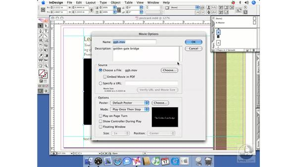 Adding movies and sounds: InDesign CS2 Beyond the Basics