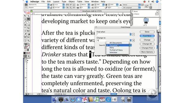 Advanced find/change: InDesign CS2 Beyond the Basics