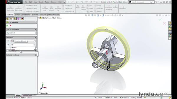 Cutting the back of the flywheel: Modeling a Motorcycle Engine with SOLIDWORKS