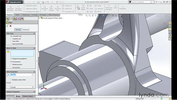Filleting the flywheel: Modeling a Motorcycle Engine with SOLIDWORKS