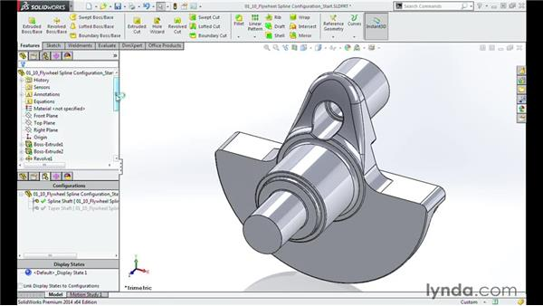 Configuring the splines of the flywheel: Modeling a Motorcycle Engine with SOLIDWORKS