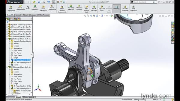 Adding subassemblies: Modeling a Motorcycle Engine with SOLIDWORKS