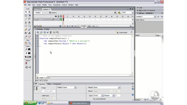 Adding comments: Flash Professional 8 Beyond the Basics