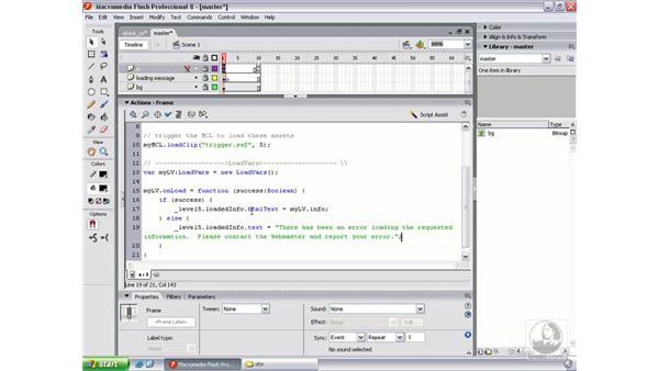 Writing the LoadVars object pt. 3: Flash Professional 8 Beyond the Basics