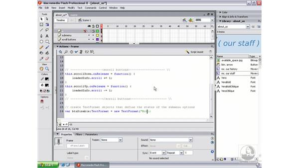 Writing the TextFormat objects: Flash Professional 8 Beyond the Basics