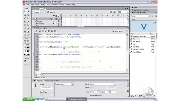Adding the next slide functionality pt. 1: Flash Professional 8 Beyond the Basics