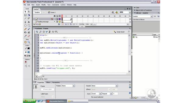 Working with onLoadProgress: Flash Professional 8 Beyond the Basics