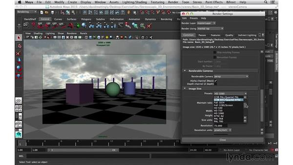 Turning on the resolution gate: Stereoscopic 3D Environments in Maya