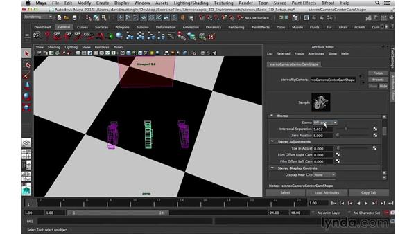 Stereo type: Stereoscopic 3D Environments in Maya