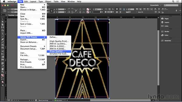 Creating a print-ready PDF: Type Project: Art Deco Postcard