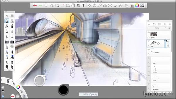 Welcome: SketchBook Pro: Drawing One-Point Perspective
