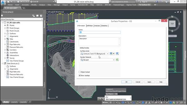 Understanding the importance of styles: Up and Running with Civil 3D