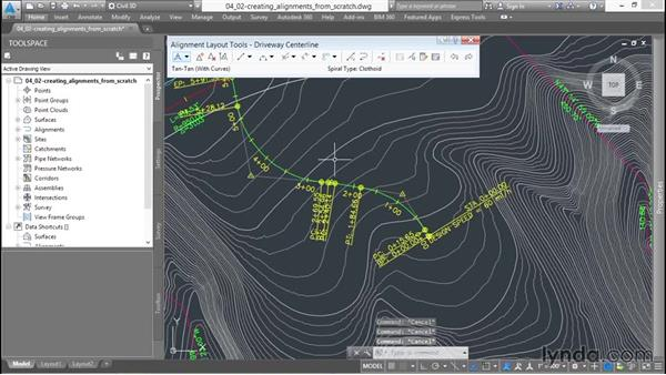 Creating alignments from scratch: Up and Running with Civil 3D