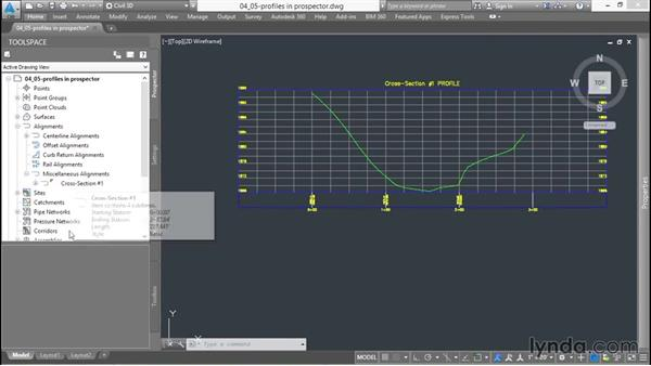 Finding profiles in the Prospector: Up and Running with Civil 3D