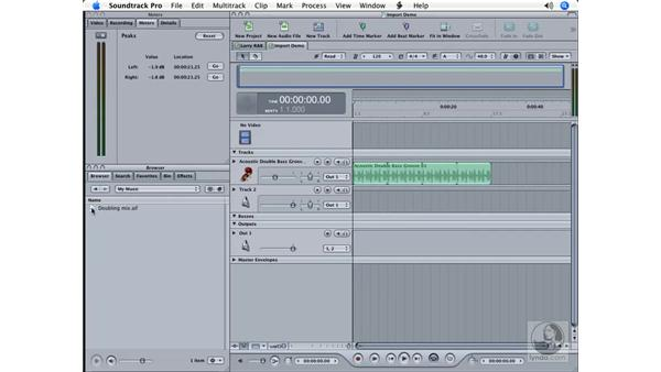Importing music: Soundtrack Pro Essential Training
