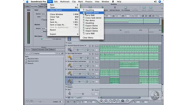 Transposition and doubling: Soundtrack Pro Essential Training