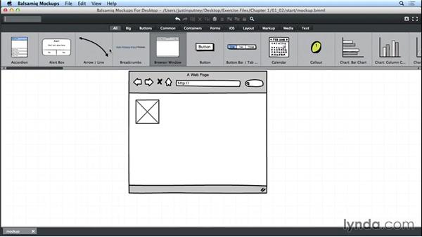 Aligning elements: UX Design Tools: Balsamiq Mockups