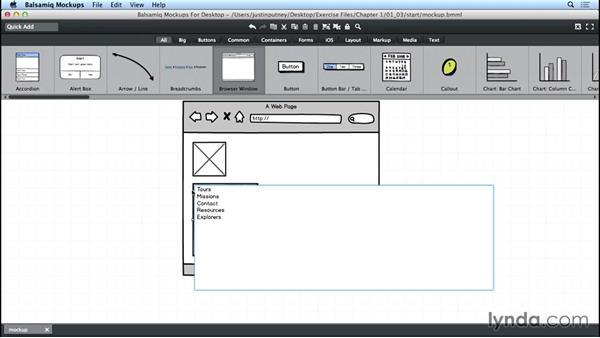 Modifying element content: UX Design Tools: Balsamiq Mockups