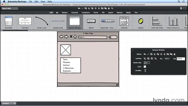 Updating element properties: UX Design Tools: Balsamiq Mockups