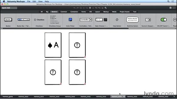 Solution: Add interactivity to a game mockup: UX Design Tools: Balsamiq Mockups