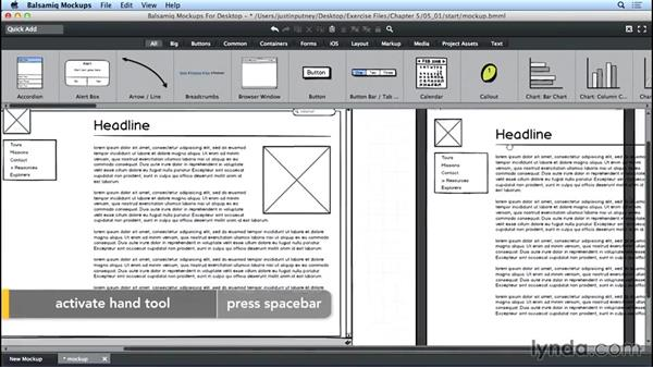 Creating a tablet wireframe: UX Design Tools: Balsamiq Mockups