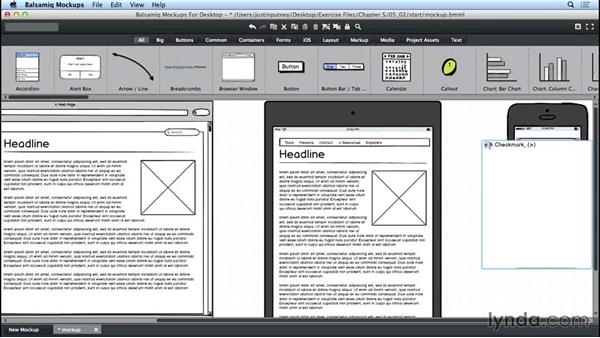 Creating a smartphone wireframe: UX Design Tools: Balsamiq Mockups