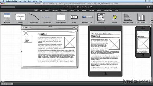 Exporting as PNG: UX Design Tools: Balsamiq Mockups