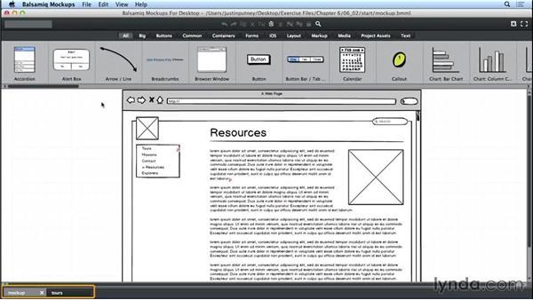 Exporting as PDF: UX Design Tools: Balsamiq Mockups
