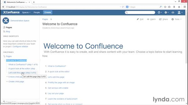 Navigating content: Installing and Administering Atlassian Confluence