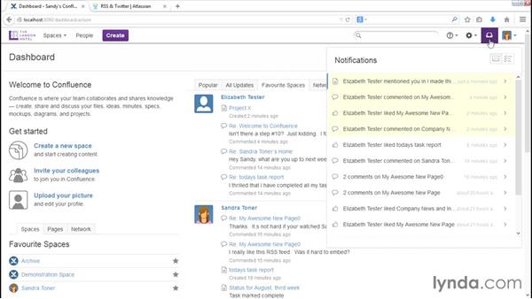 Managing notifications: Installing and Administering Atlassian Confluence