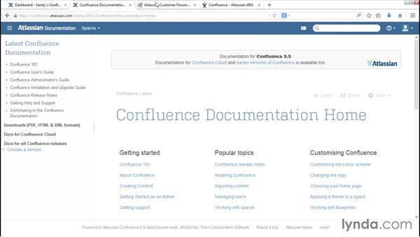 Next steps: Installing and Administering Atlassian Confluence
