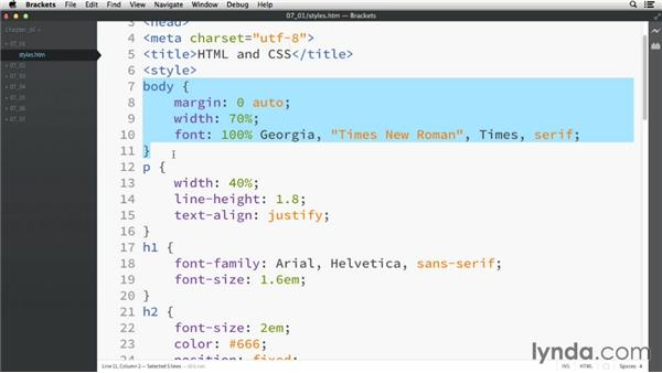 HTML and CSS: HTML Essential Training