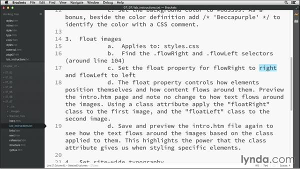 Challenge: Controlling basic styling: HTML Essential Training