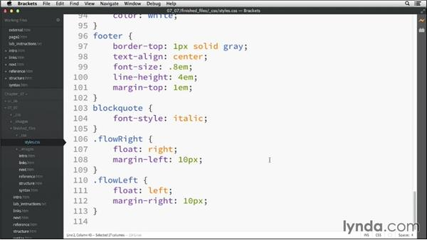 Solution: Controlling basic styling: HTML Essential Training