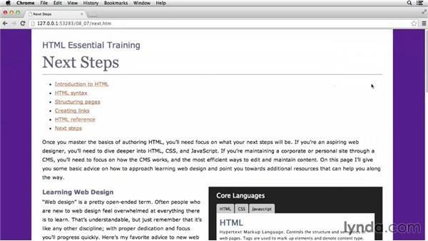 Externalizing JavaScript: HTML Essential Training