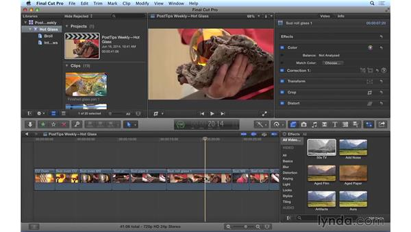Working with master clip effects in Final Cut Pro X