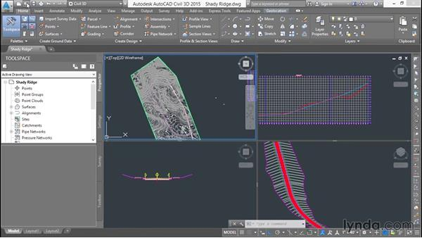 Using the exercise files: Basic Roadway Design with Civil 3D