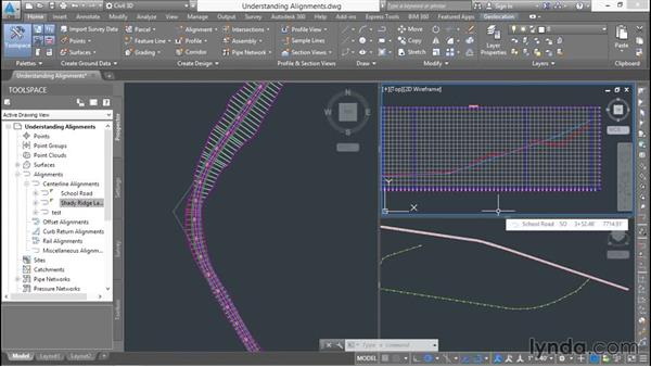Understanding alignments: Basic Roadway Design with Civil 3D