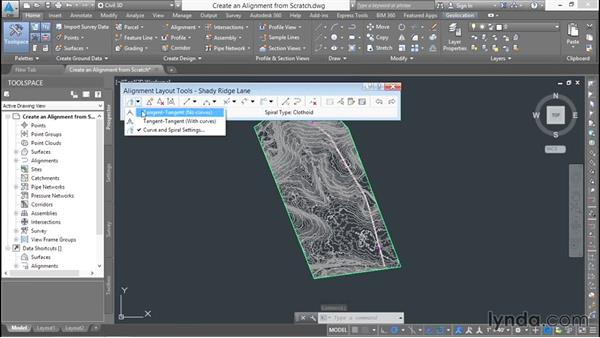 Drawing an alignment from scratch: Basic Roadway Design with Civil 3D