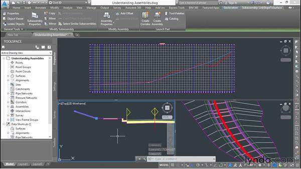 Understanding assemblies: Basic Roadway Design with Civil 3D
