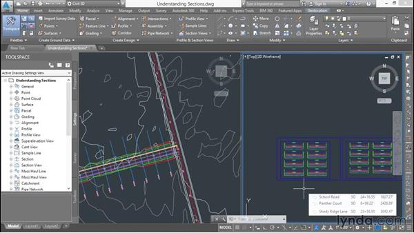 Understanding sections: Basic Roadway Design with Civil 3D
