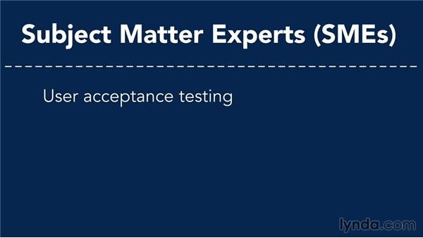 Testing roles: Managing Project Quality