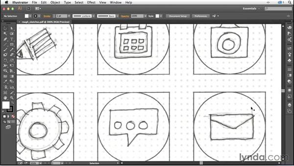 Solution: Sketching your ideas: Creating Icons with Illustrator