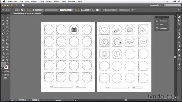 Challenge: Convert your icon to vectors: Creating Icons with Illustrator