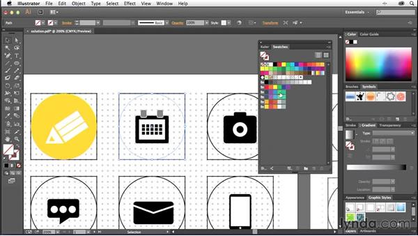 Importing and applying your color scheme: Creating Icons with Illustrator